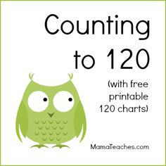 These free downloadable 120 charts are perfect for helping your little ones learn to count to 120. There is a free blank 120 chart, as well as others.