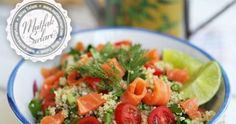 Quinoa Salad with Smoked Salmon – Kitchen Secrets – Practical Recipes Homemade Beauty Products, Quinoa Salad, Smoked Salmon, Fajitas, Granola, Guacamole, Food To Make, Salsa, Health Fitness