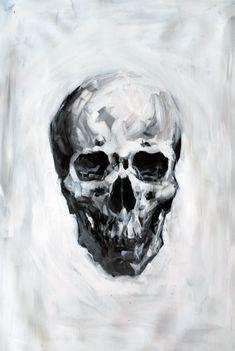 Henry Christian-Slane — Black and white study of human skull.