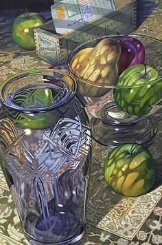 The shadows alone make this a work of craft and aft, then you added the glass. WOW!  Apples And Mail by Gary Cody