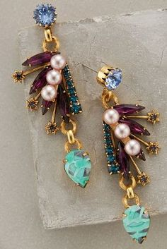 Dazzling and vivacious earrings for the bridesmaids   Earrings by Anthropologie