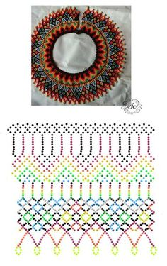 Дыхание Бисера's photos Diy Necklace Patterns, Beaded Jewelry Patterns, Beading Patterns, Bead Crochet Patterns, Beaded Collar, Beading Tutorials, Loom Beading, Bead Weaving, Bead Crafts