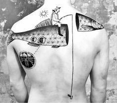 Miriam Frank fish tattoo
