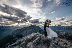 Beautiful mountain top photoshoot with an amazing adventurous couple Canmore weddings   photo by One Edition Photography