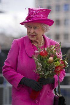 Queen Elizabeth II March 21, 2014 in London, England.