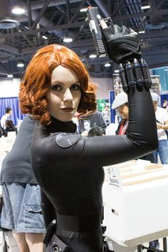The Avengers Black Widow Halloween costumes featured here will allow both women and girls to dress as The Black Widow for Halloween or any time.