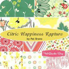 Citric Happiness Rapture Fat Quarter BundlePat Bravo for Art Gallery Fabrics - Fat Quarter Bundles | Fat Quarter Shop