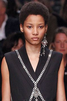 Earrings that are decidedly one-sided sell the idea that matching sets are so 2015. Pictured: Alexander McQueen
