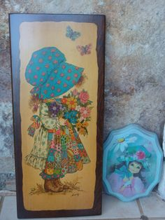 1970s HOLLY HOBBIE ART vintage wall home by CherryBombVintage77