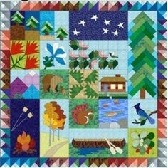 When I was visiting a quilt shop in Alaska I found a printed panel ... : ladybug hill quilts - Adamdwight.com