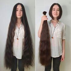 We Love to Cut Her Hair Long Hair Ponytail, Ponytail Hairstyles, Super Long Hair, Big Hair, Indian Hair Cuts, Shaved Hair Women, Girls Short Haircuts, Rapunzel Hair, Cut Her Hair