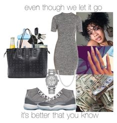 """""""i still got it for ya💍❄️"""" by makaelahangelah ❤ liked on Polyvore featuring French Connection, NIKE, MCM and Rolex"""