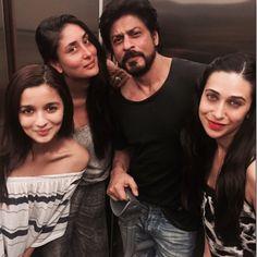 Kareena Kapoor, Alia Bhatt, Karisma Kapoor party with Shah Rukh Khan.