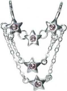 Gem Set Star Chain Nipple Stirrup(s) Lois Hill Jewelry, Fashion Jewelry, Gems, Chain, Stars, Bracelets, Silver, Bangles, Trendy Fashion Jewelry
