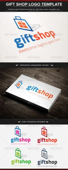 Gift Shop Logo Template - DOWNLOAD NOW!