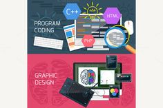 Program Coding and Graphic Design by robuart on Creative Market