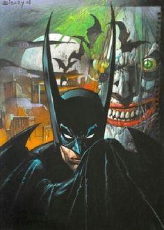 Batman and Joker by Simon Bisley