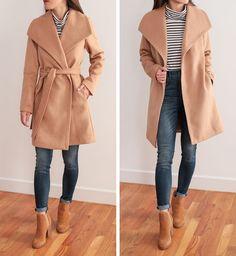 camel tan wrap coat_petite wool winter jackets