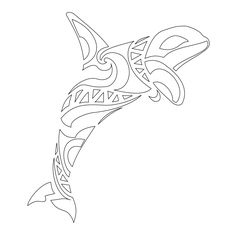 Images For > Killer Whale Tribal Tattoo