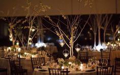 para hacer un centro de mesa con ramas secas.
