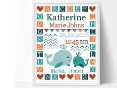Awesome Most Popular Embroidery Patterns Ideas. Most Popular Embroidery Patterns Ideas. Baby Cross Stitch Patterns, Cross Stitch Alphabet, Cross Stitch Baby, Cross Stitch Animals, Cross Stitch Embroidery, Embroidery Patterns, Baby Decor, Whale Nursery, Baby Whale