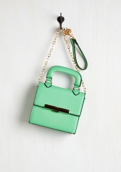Going, Going, Glam Bag. Follow your heart to wherever it takes you with the stylish smarts of this mint green purse! #mint #modcloth