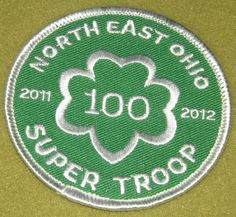 Girl Scouts North East Ohio 100th Anniversary Super Troop patch