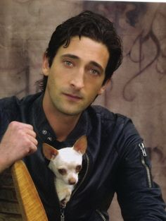 Adrien Brody & dog