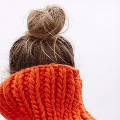 Top knot and chunky knit | HonestlyWTF