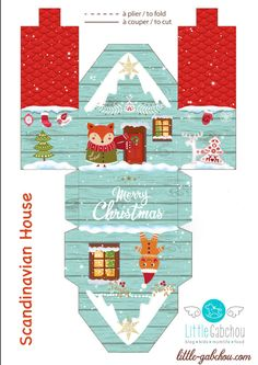 christmas printables # 2020 (Christmas DIY) The advent calendar is . - christmas printables # 2020 (Christmas diy) The clever Christmas calendar - Christmas Paper Crafts, Christmas Time, Christmas Decorations, Christmas Ornaments, Holiday, Homemade Decorations, Christmas Houses, Christmas Calendar, Diy Advent Calendar
