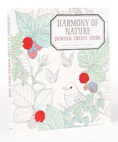 Look at this Harmony of Nature Coloring Book on #zulily today!