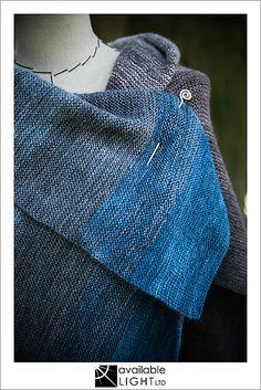 Big Ombre Wrap pattern by handmade by SMINÉ | malabrigo Lace in Azul Profundo, Garden Gate, Stone Blue, Polar Morn, Pearl, Tortuga