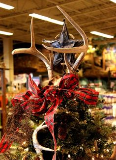 antler christmas tree topper who needs a tired old star on top of a tree