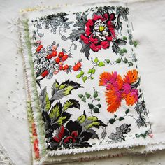 *RadishBlossoms*: A Stitched Journal Page with Friday Flowers