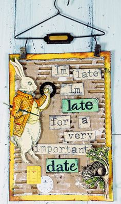 Alive in Wonderland wall hanging idea from Stampington