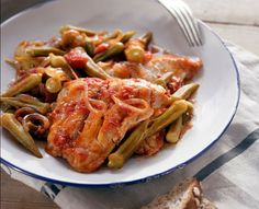Fish baked with Okra is a classic dish in Cretan cooking.