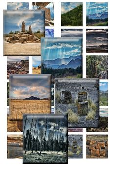 NATIONAL PARKS  Scrabble Tiles for Jewelry by DesertLifePrints, $2.50