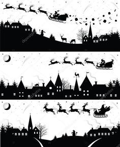 Scarica - Sagome di Natale — Illustrazione stock #14836207
