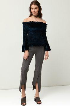 Moria Slit Slacks Discover the latest fashion trends online at storets.com