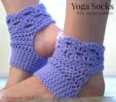 Free crochet pattern for yoga socks.  Easy to make and fun to wear.