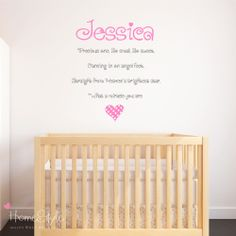 personalised baby girls nursery wall art stickers decals childrens kids room - Design Your Own Wall Art Stickers