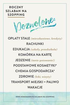 Od 1 stycznia jest szlaban! Na...zakupy. Na rok. Można kupić tylko to! homemaker.pl @homemakerPL