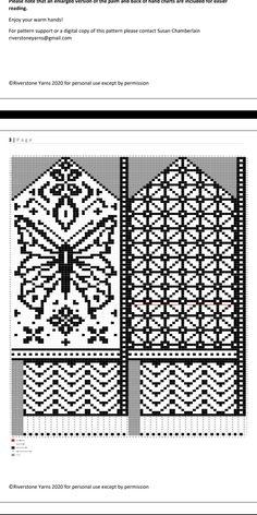 Crochet Mittens Free Pattern, Jumper Knitting Pattern, Knit Mittens, Knitting Patterns, Crochet Patterns, Knitting Kits, Knitting Charts, Free Knitting, Knitting Socks