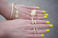 Nail, rings, bracelets! #Perfection
