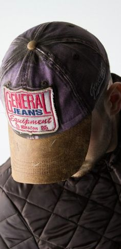 90deef3773b Cap Brown Denim by General Jeans. Designed in the classic baseball hat  style