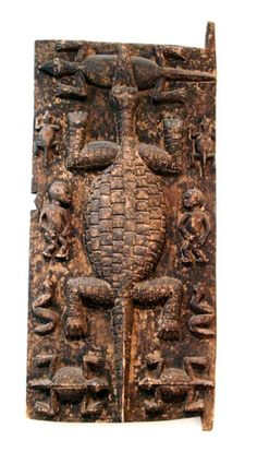 Africa | Granary door from the Senufo (Ivory Coast) or Dogon (Mali) people | Carved wood