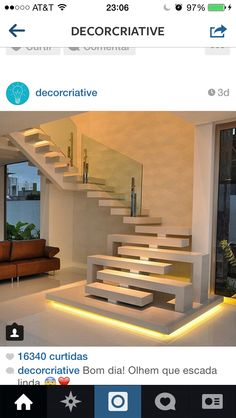 Stairs design architecture stairways interiors new Ideas Interior Stairs, Home Interior Design, Exterior Design, Stairs Architecture, Interior Architecture, Escalier Design, Modern Stairs, House Stairs, Architect House
