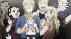 My favorite pic from Fullmetal Alchemist Brotherhood! Can you guest which characters are here?