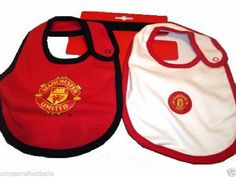 Man United Baby Bibs set Of 2 Official Football Gifts Baby Products