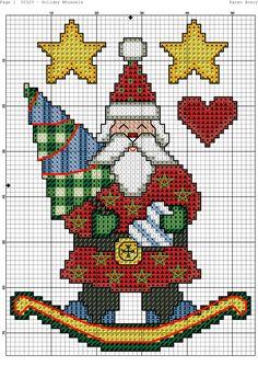 Cross Stitch Santa Rocker